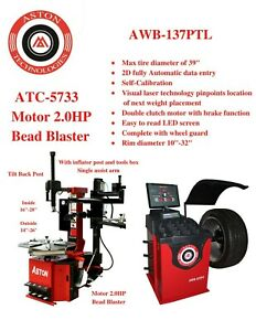 2 0hp Tire Changer Wheel Changers Machine Balancer Laser Combo Bead Blaster
