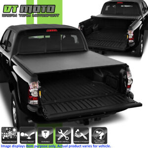 Soft Roll Up Tonneau Cover For 2005 2015 Toyota Tacoma Double Cab 5ft 60 Bed