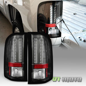 Blk 2007 2013 Chevy Silverado 1500 2500hd 3500hd Lumileds Led Tail Lights Lamps