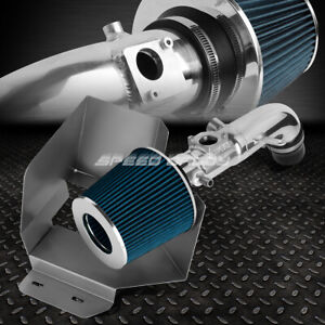 For 02 06 Toyota Camry I4 2 4 Aluminum 4 Cold Air Intake Blue Filter Heat Shield