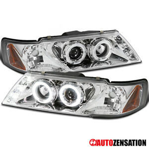 For 1995 1998 Nissan Sentra 200sx Clear Halo Projector Headlights Led Drl 96 97