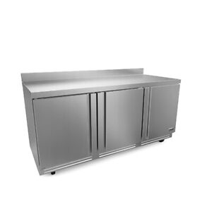 Fagor Refrigeration 72 Stainless Steel Worktop Three Section Refrigerator