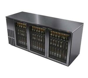 Fagor Refrigeration 80 Stainless Steel Flat Top Refrigerated Back Bar Cooler
