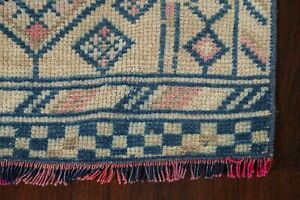 Vintage Muted 2x12 Authentic Oushak Turkish Wool Hand Made Runner Rug 12 X 2 5