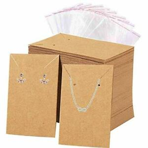 Folai Earrings And Necklace Display Cards With 100 Self sealing Bags Earring For