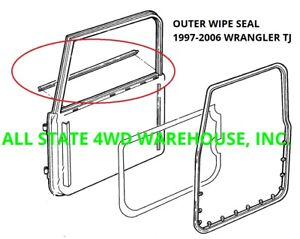 Outer Window Felt Sweep Belt Kit For 97 06 Jeep Wrangler Tj Pair