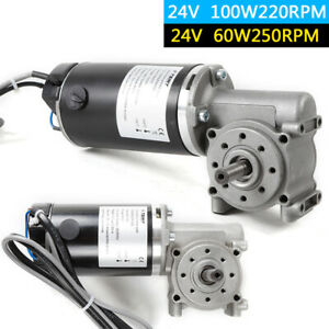 24v Right Angle Electric Worm Gear Motor Door Encoder Brushed 1 2 Signal Motor