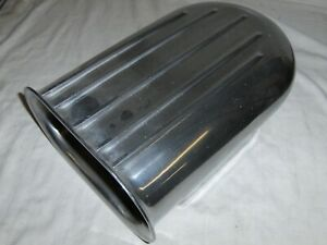4 Bbl Polished Aluminum Finned Hilborn Style Carb Air Cleaner Hood Scoop Display