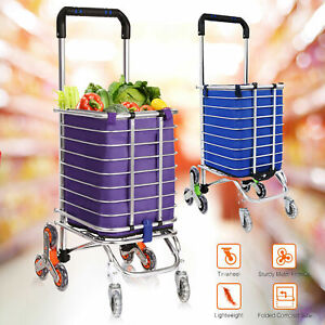 Folding Shopping Cart Grocery Trolley Laundry Stair Climbing Handcart Hot Ssle