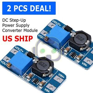 2pcs Dc dc 2a Adjustable Step Up Boost Power Supply Converter Module N108