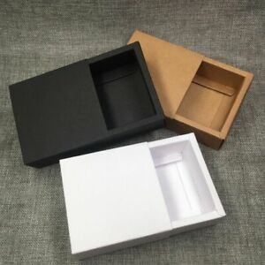50 Pcs Kraft Gift Packing Boxes Blank Paper Drawer Box Diy Storage Boxes