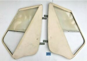 Used Oem 58 62 Triumph Tr3a Tr3b Side Curtain Set W Velcro Carry Bag H981