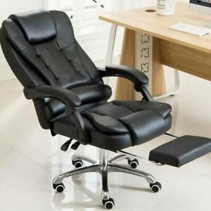 Executive Office Chair Swivel Computer Racing Gaming Chair Pu Leather Reclining