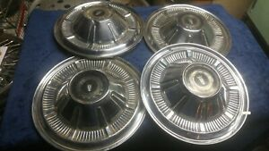 Set Of Four 1966 Ford Galaxie 500 Coupe Hubcaps