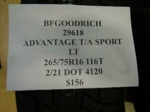 1 New Bfgoodrich Advantage T a Sport Lt 265 75 16 116t Tire 29618 Q1