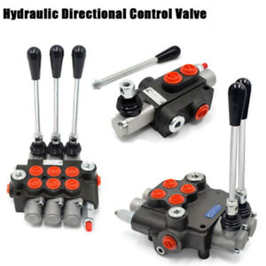 1 2 3 Spool Hydraulic Directional Control Valve Tractor Loader W joystick 11 Gpm