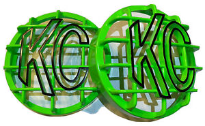 Kc Light Cover Kc Hilites 6 Bright Green And Black Stone Guard Kc Rock Guards