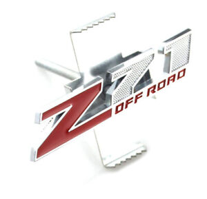 1pc Chevy Gmc Silverado Sierra Front Grille Z71 Off Road Badge Emblem Red