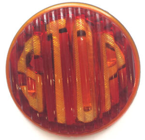 Vintage Antique Stop Tail Light Round Glass Lens Car Truck Motorcycle Rat Rod