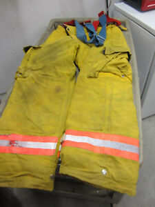 Size 34 31 Morning Pride Fire Fighter Turnout Pants No Suspenders Good