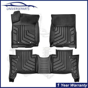 3pc Floor Mats 3d Molded Linears All Weather For 2016 2021 Toyota Tacoma Trd Pro