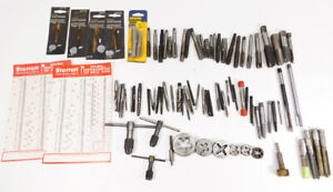 Mixed Vintage Lot Of Taps Dies T handle Tap Wrench Turners Starrett Craftsman