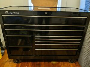 Black Snap On Roll Cab Like New 55in With Power Drawer