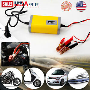 New 12v Car Battery Charger Maintainer Auto Trickle Rv For Truck Motorcycle Atv