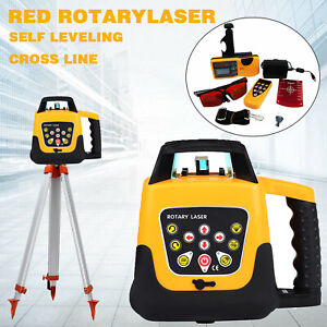 Automatic Self leveling Red Beam 360 Rotary Laser 500m Level Kit 1 65m Tripod