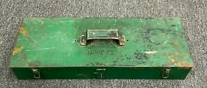 Snap On Tools Vintage Large 22 X 8 X 3 5 Storage Metal Box With 3 Dividers
