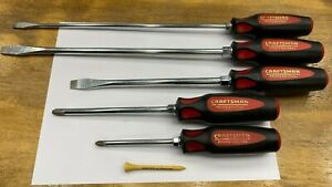 Craftsman Professional Tools Usa Rare 5 Piece Phillips Flathead Screwdrivers