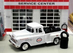 Diecast 143 1955 Chevrolet Pickup Truck Aaa Esso With 10 Tires