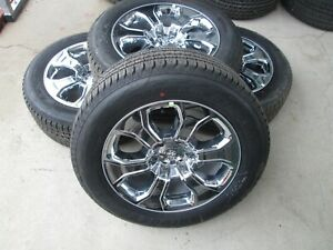 20 Dodge Ram 1500 Laramie Big Horn Factory Wheels Rims Tires 6 Lug Chrome
