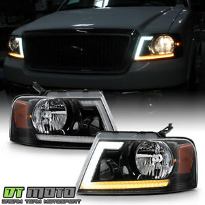 2004 2008 Ford F150 Led Tube Switchback Signal Headlights Headlamps Left right