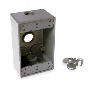 Bell 5324 0 Weatherproof Box 1gang 3 4 In Hub Alum