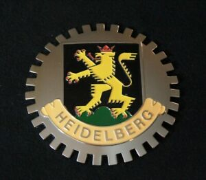 Heidelberg Germany Grille Badge Plate Topper Accessory Fits Benz Audi Vw Porsche