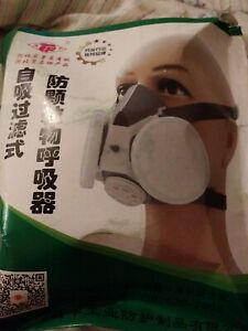 Tf 0701 Double Filters Half Face Gas Mask Painting Spraying Facepiece Respirator