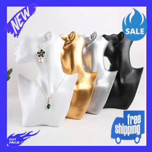 New Resin Mannequin Head Bust Stand Choker Necklaceearrings Jewelry Rack Display