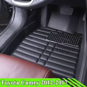 All weather Floor Mats For Toyota Camry 2012 2017 Floor Liner Waterproof Carpets