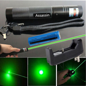 900miles Green Laser Pointer Pen 532nm Rechargeable 1mw Lazer Torch batt charger