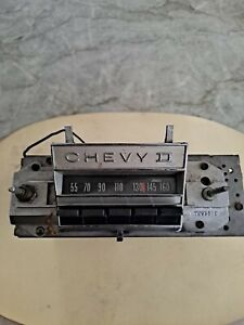 1966 1967 Chevy Ii Nova Original Gm Delco Am Push Button Radio 7293876 As Is
