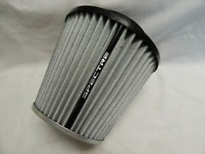 Spectre Hpr9617 White Cold Air Intake Filter 4 102mm Clamp On 6 75 Tall