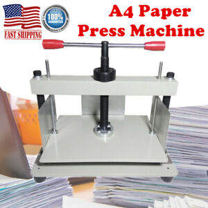 A4 Steel Bookbinding Notes Invoice Steel Flattening Machine Manual Paper Press