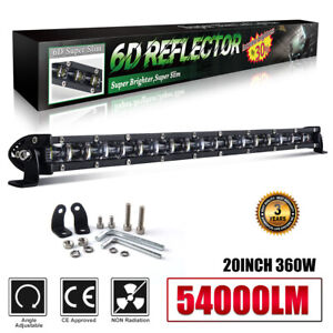 20inch 360w Led Light Bar Work Flood Spot Beam Driving Offroad 4wd Truck Fog Suv