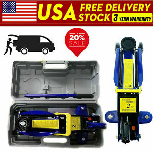 2 Tonne Low Profile Hydraulic Car Trolley Floor Jack Mechanic Garage Tool Us