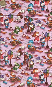 HTF quot;CHILDS PLAYquot; PINK BY RACHEL LEE FOR PRINT CONCEPTS 2 YARDS $13.95
