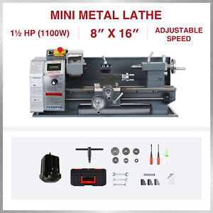 Mini Metal Lathe For Turning Cutting Drilling Threading 1100w 8 x16 2250rpm
