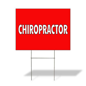 Weatherproof Yard Sign Chiropractor Outdoor Advertising Printing A Lawn Garden