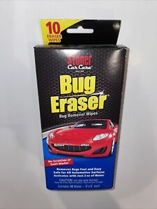 Stoner Car Carebug Eraser Car Cleaning Wipes Removes Bugs Fast Easy