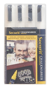 American Metalcraft sma510v4wt Securit Small Tip Chalk Markers White 4 pack